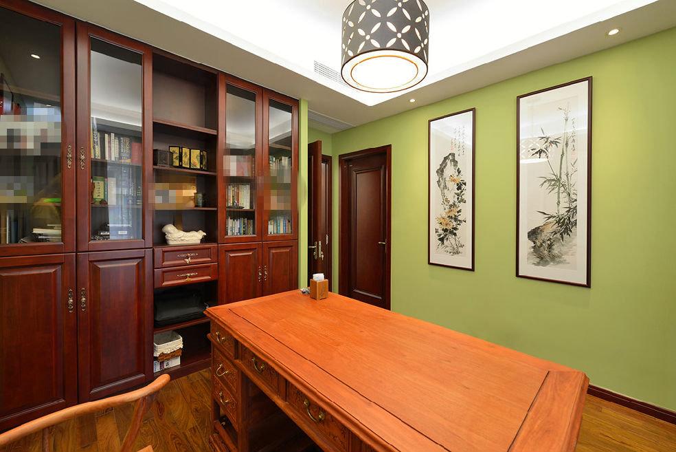 清新中式书房照片墙设计