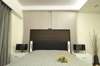宜家现代风卧室床头背景墙装饰