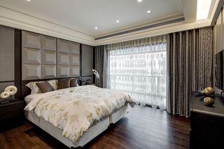 素雅别致现代卧室窗帘装饰效果图