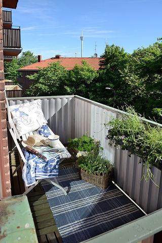 简洁自然北欧家居开放式简易阳台设计