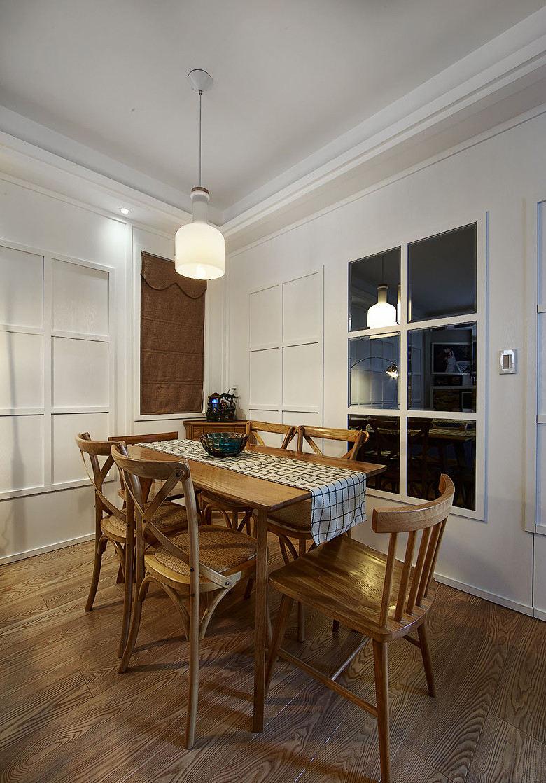 美式风格餐厅原木家具图