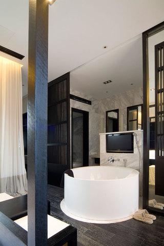 时尚奢华现代风 圆形浴池设计