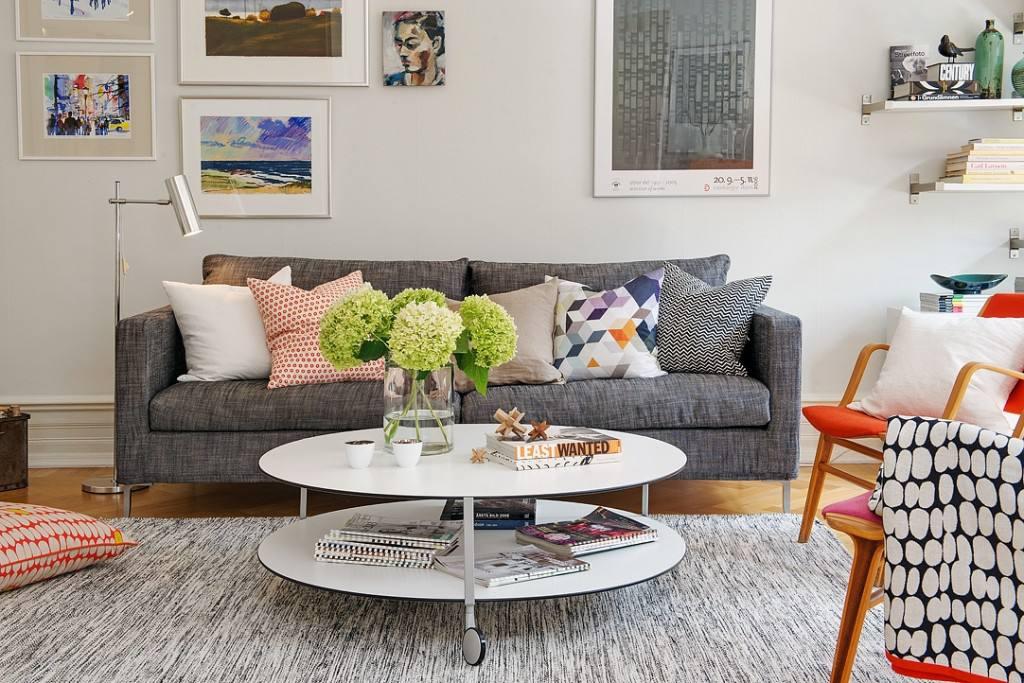 北欧风格客厅沙发效果图