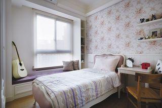 简欧时尚卧室飘窗设计装修图