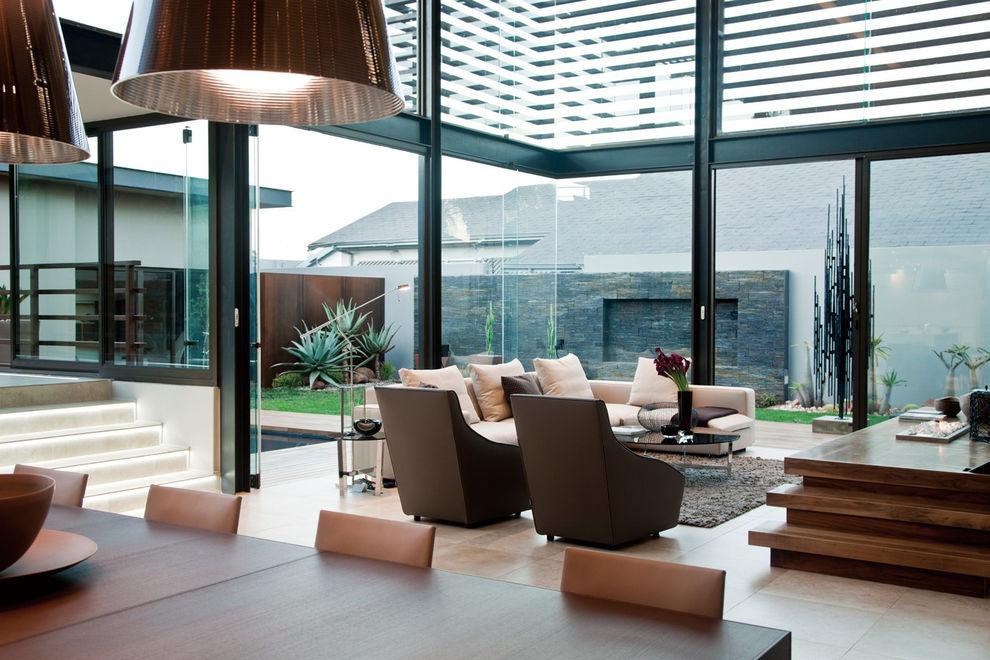 时尚高雅现代别墅 玻璃装饰效果图