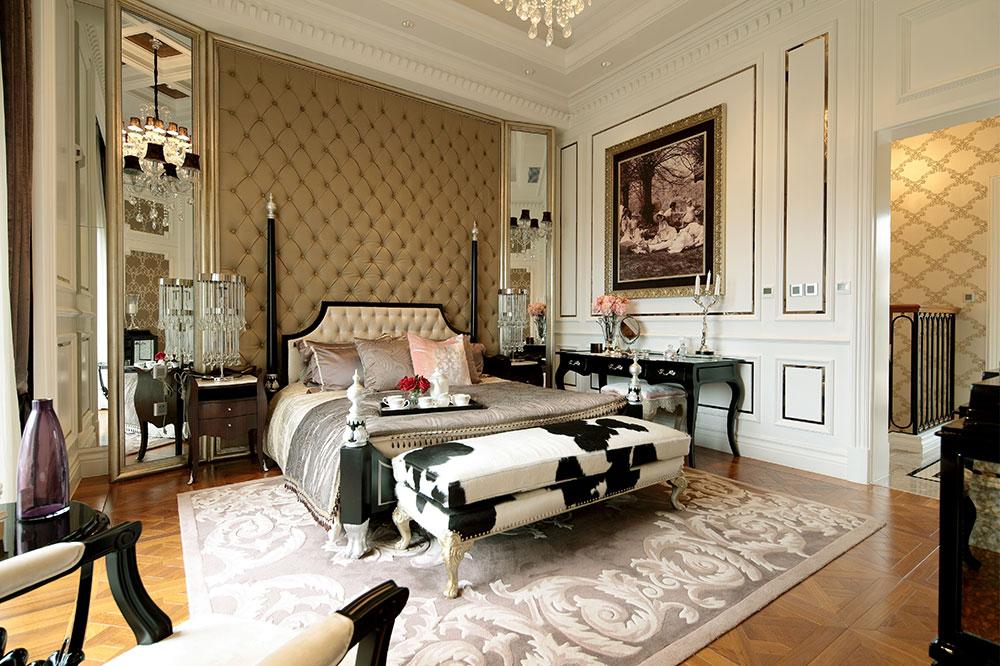 端庄高贵欧式风格别墅卧室设计装潢效果图