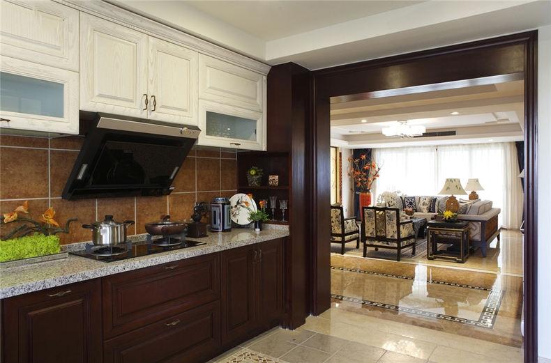 高端新中式厨房隔断效果图