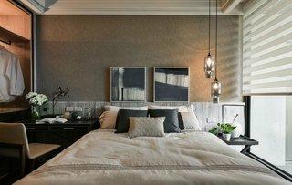 时尚后现代卧室背景墙设计