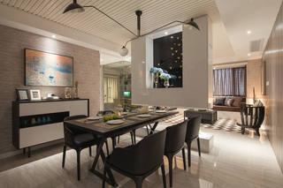 美式现代家居餐厅装修图