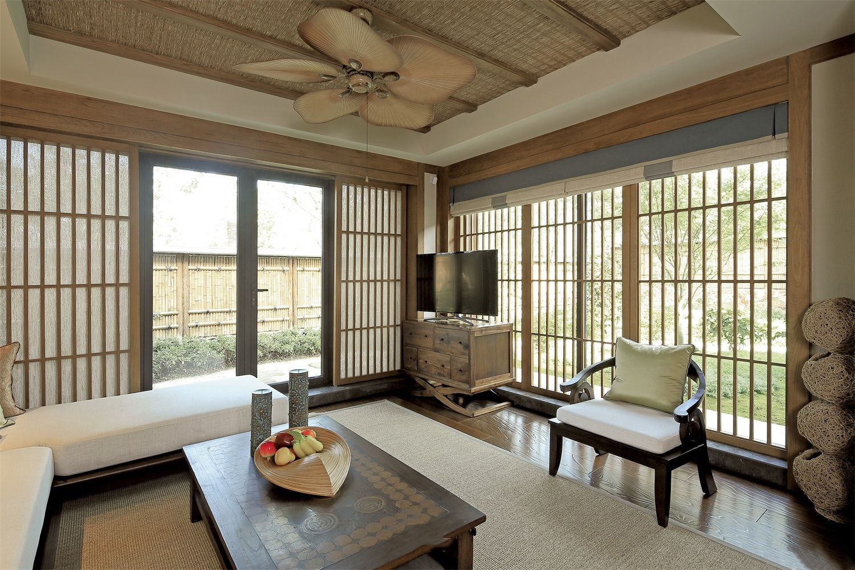 和风原木日式风格客厅装修设计图