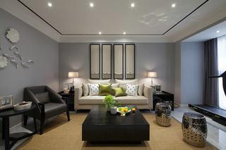 简中式现代客厅装修图