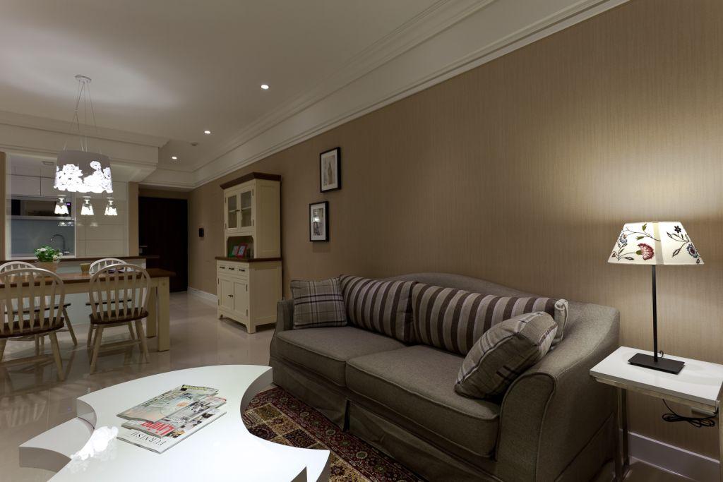 最新简约家装室内咖啡色背景墙设计装修图