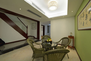 清新绿色中式休闲茶室装潢
