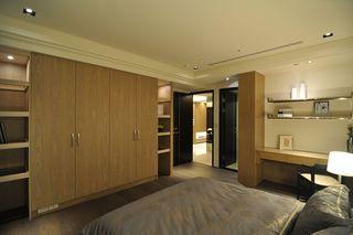 休闲简约风卧室 实木衣柜效果图