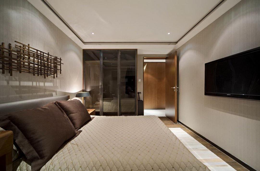 时尚现代卧室吊顶案例图
