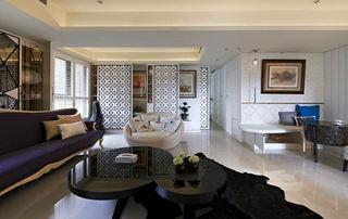 摩登简欧新古典混搭客厅设计