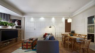 美式风格装修三居室设计