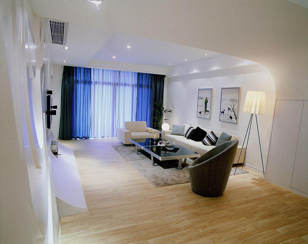 时尚现代家居客厅窗帘装饰图