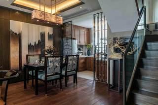 复式餐厅新中式风格装修