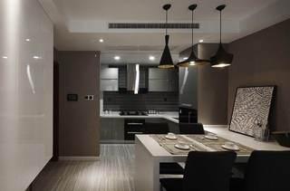 时尚现代装修餐厨房一体设计