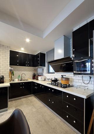 时尚黑白现代风格厨房橱柜设计