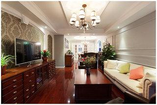 10萬軟裝紅木古典美式風格三室兩廳裝潢圖