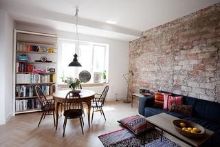 原始自然北歐風格一居公寓設計