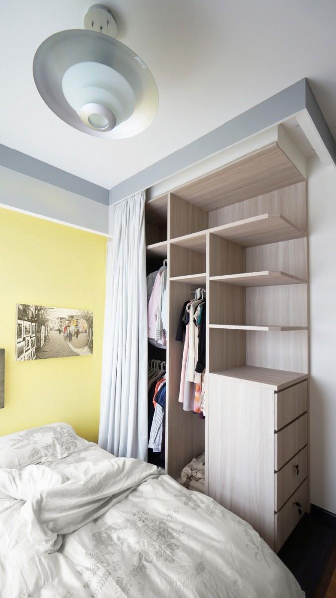 唯美简约现代卧室衣柜效果图