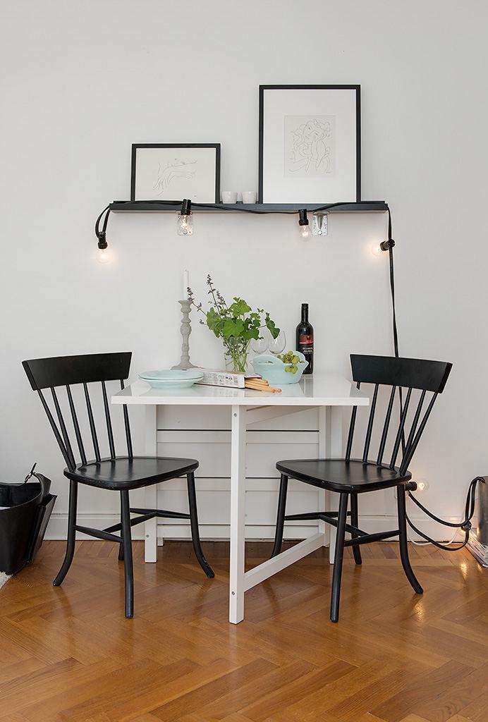 简洁实用北欧小户型餐厅自制灯饰效果图