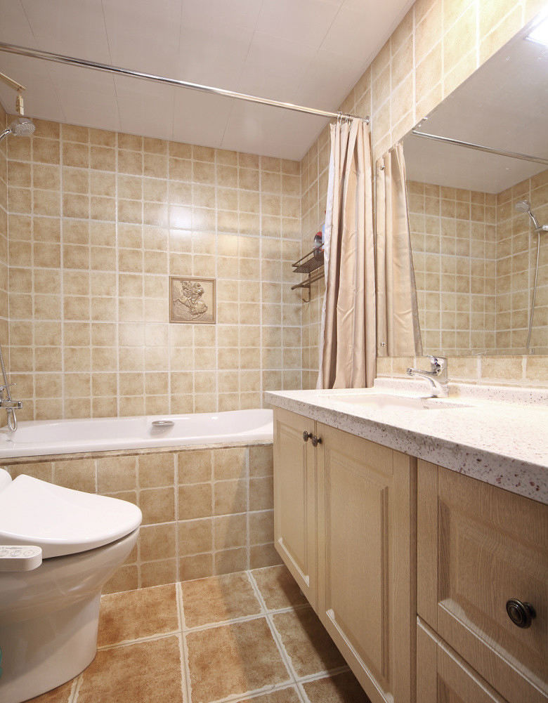 温馨复古简欧风浴室效果图