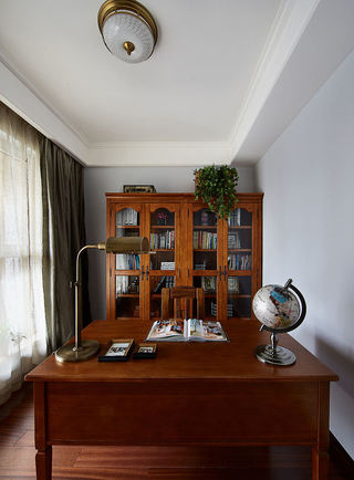美式高端红木书房家具图