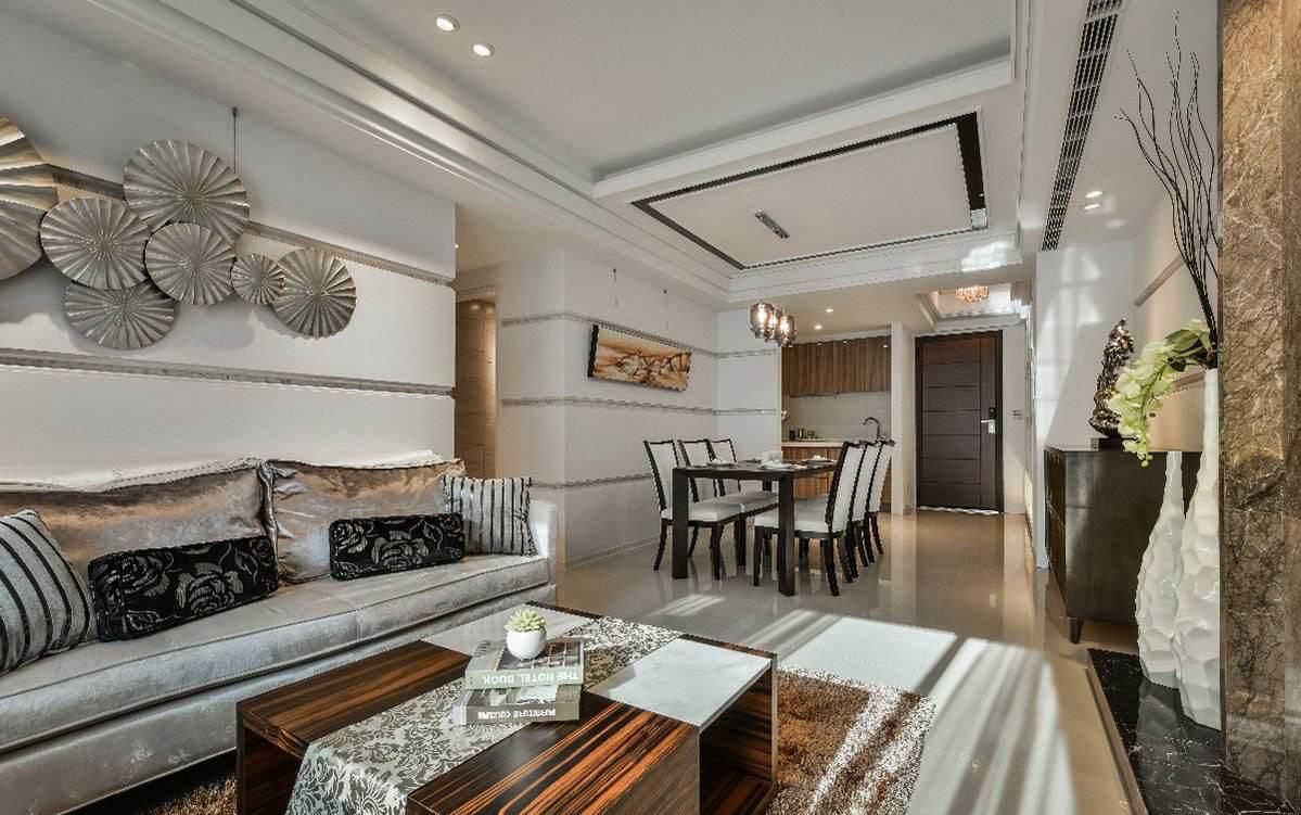 奢华后现代两室一厅家居设计
