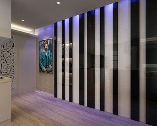 现代日式竖条纹背景墙设计
