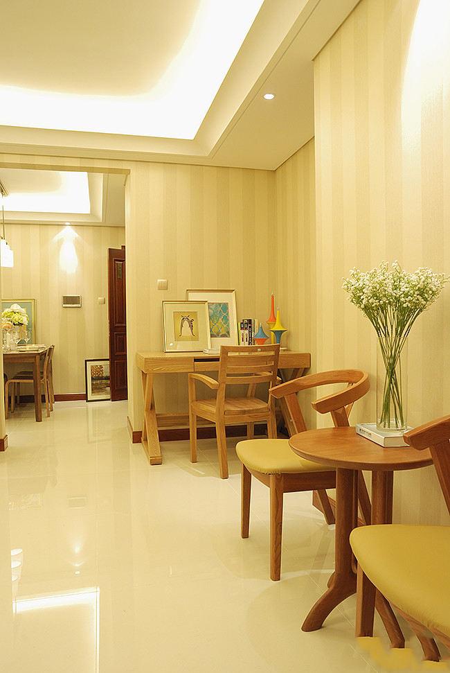 舒适简约现代中式风格家居室内隔断装修图
