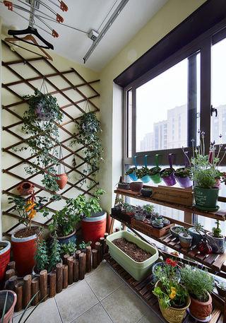 现代田园风花园阳台布置