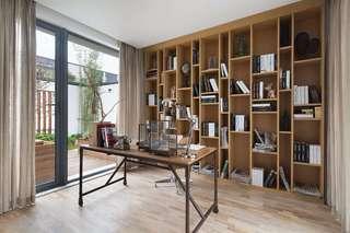 简约实木宜家别墅书房设计装修图