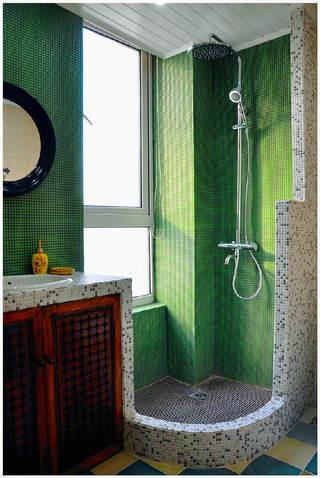 绿色马赛克地中海风格卫生间设计