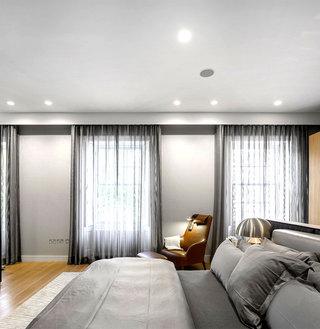 美式风格卧室灰色家装效果图