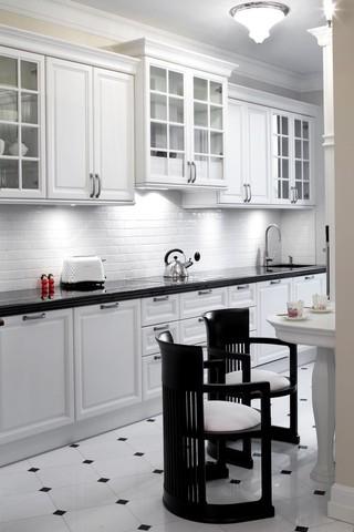 精致黑白简欧风厨房橱柜设计
