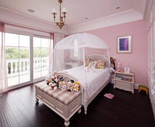 美式儿童房粉色装潢效果图