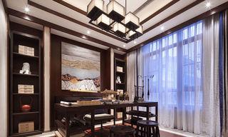 时尚现代新中式 书房博古架设计