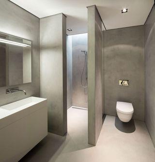 极简自然主义卫生间隔断设计