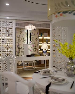 唯美中式新古典 餐厅隔断设计
