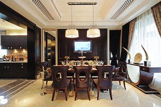 深咖色欧式新古典餐厅家居设计