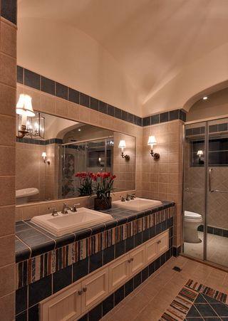 美式乡村风 卫生间浴室柜设计