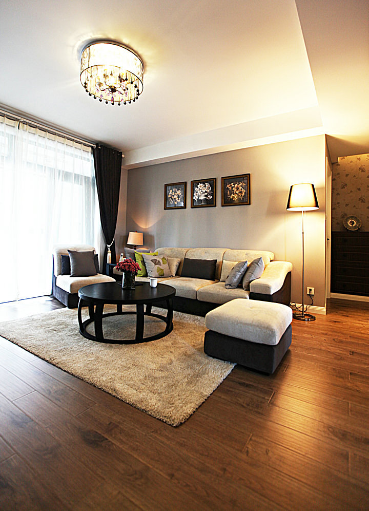 浪漫艺术现代复式客厅软装饰效果图