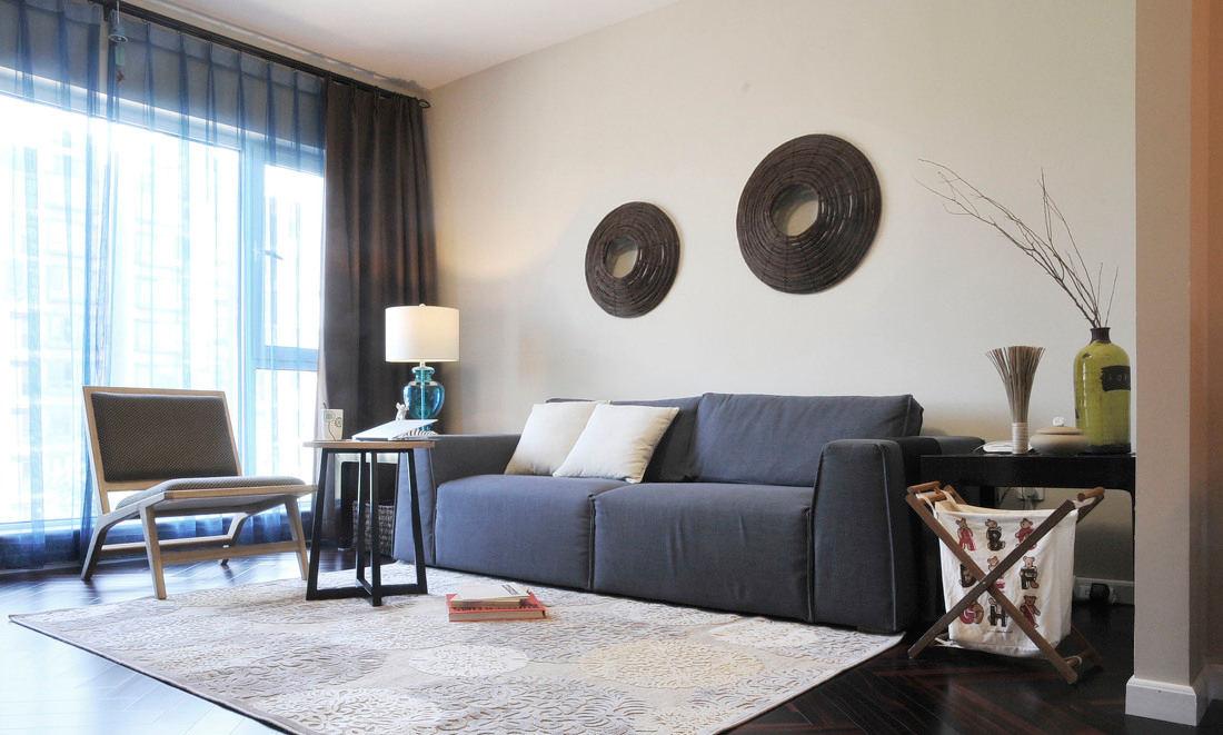 时尚简中式 客厅沙发效果图