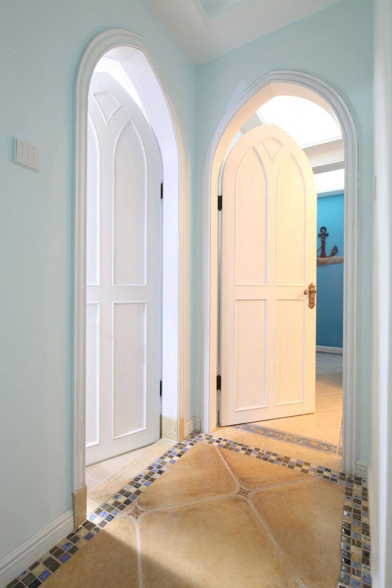 清爽地中海家居室内拱形门装饰效果图