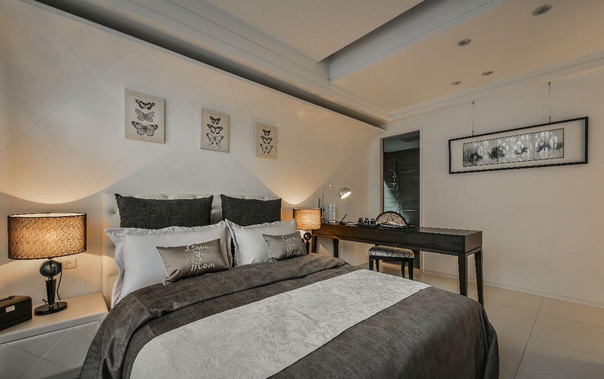 精美现代卧室背景墙效果图
