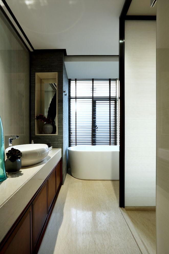 新中式风格 卫生间洗手盆装饰